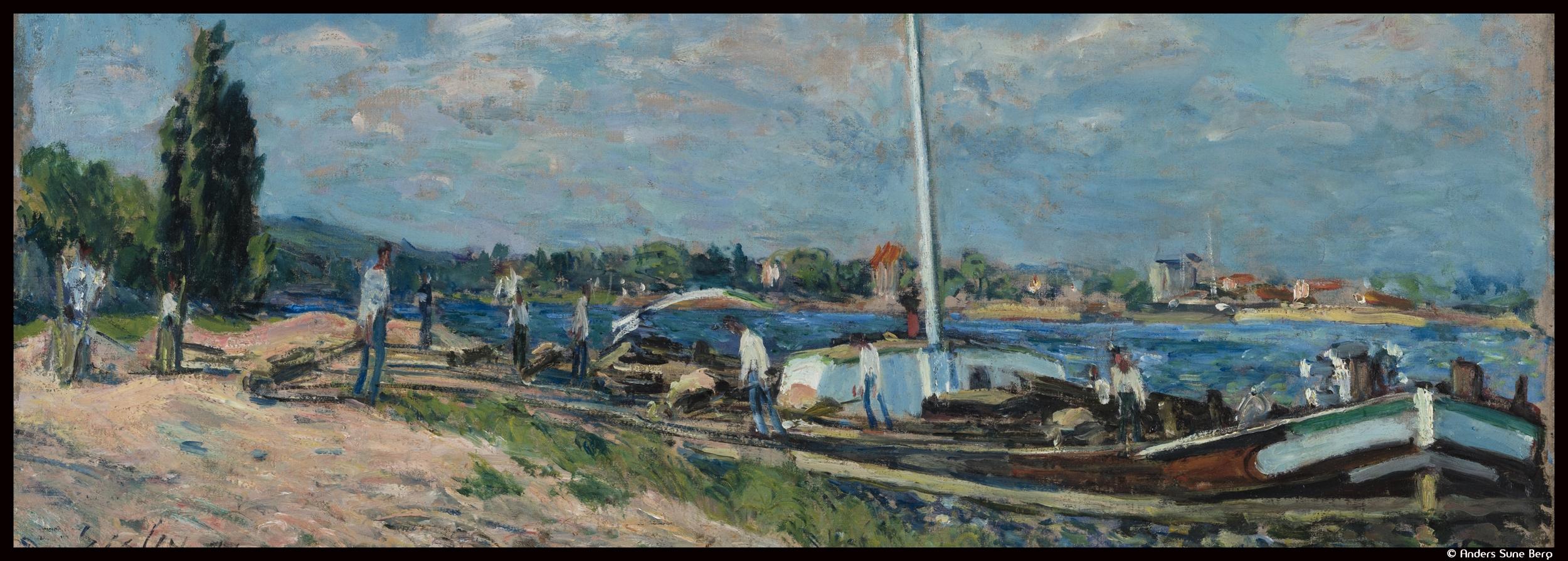 Couv_7-Sisley dechargement peniches Billancourt 1877 Inv273 WH_©Anders Sune Berg_@loeildoliv