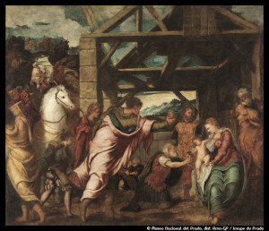 Tintoret_72dpi_Adoration des mages_© Museo Nacional del Prado, dist_ Rmn-GP _ image du Prado_@loeildoliv