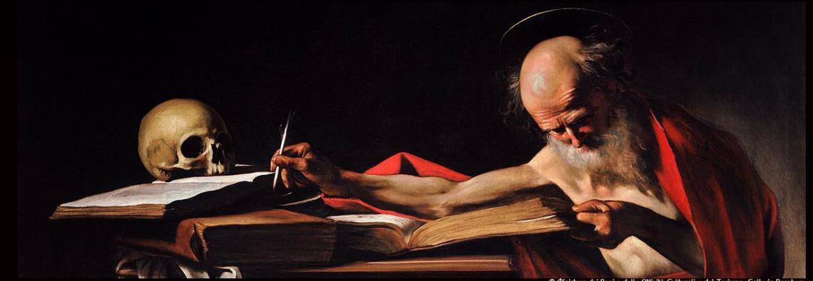 Couv_Caravage_Saint_Jerome_Writing-Caravaggio__©© Ministero dei Beni e delle Attività Culturali e del Turismo- Galleria Borghese_@loeildoliv