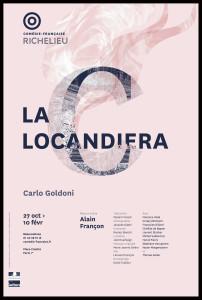 Affiche _Locandiera presse_goldoni_Françon_@loeildoliv