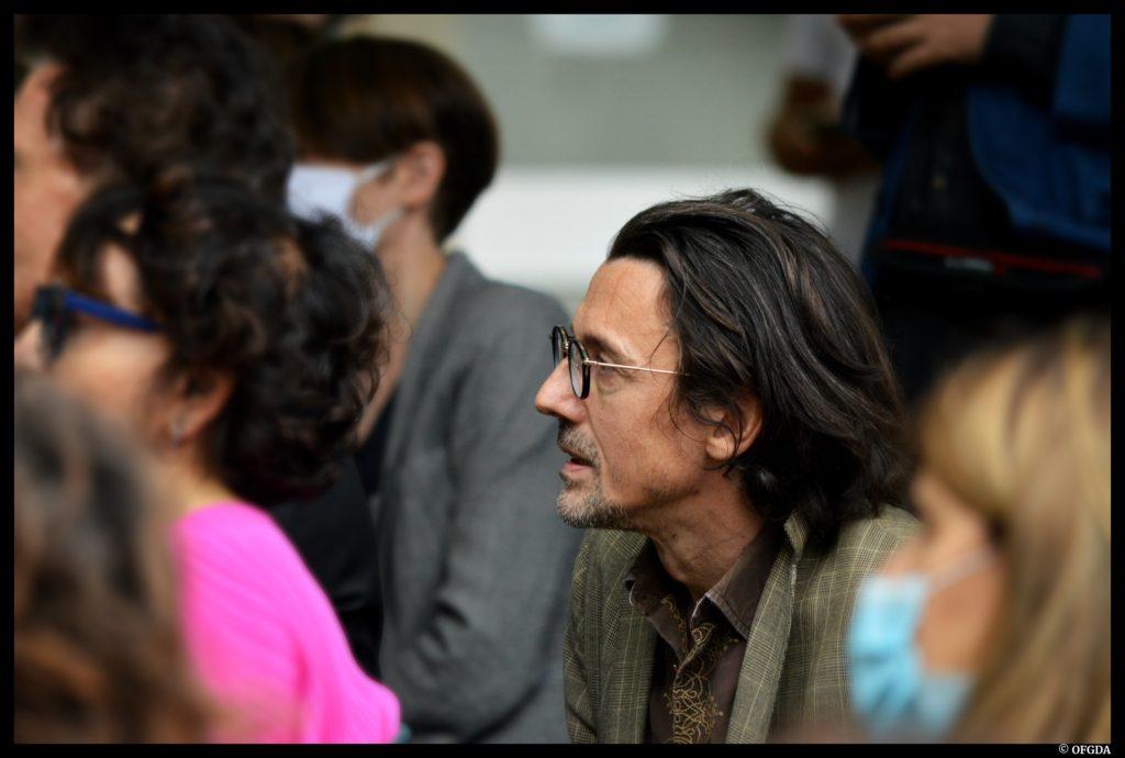 Traversée de l'été. TNS. Roselyne Bachelot. Ministre de la Culture. Stanislas Nordey. ©OFGDA