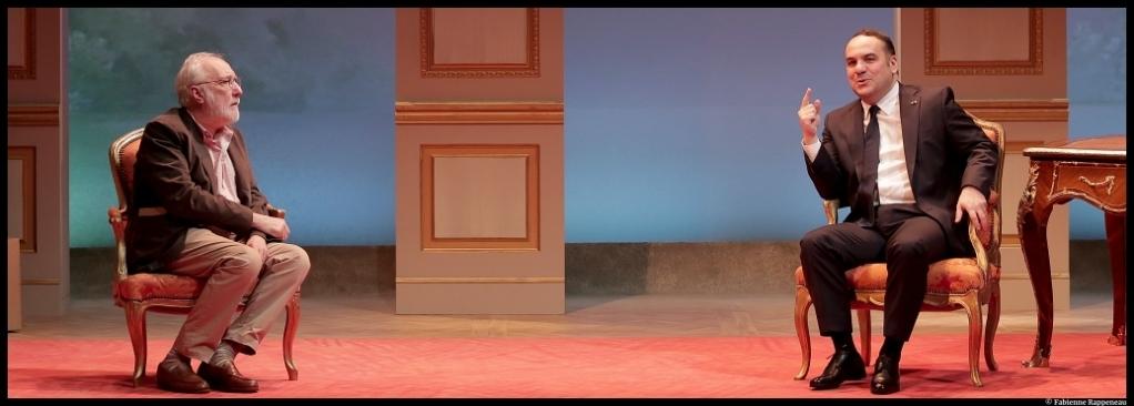 Par le bout du nez de Matthieu Delaporte et Alexandre De La Patellière. François-Xavier Demaison, François Berléand. Mise en scène de Bernard Murat. Théâtre Antoine. © fabienne Rappeneau