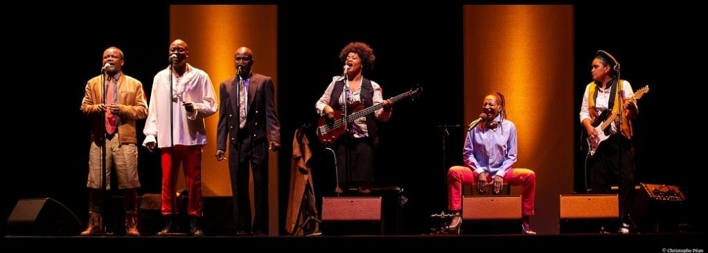Congo Jazz Band de mohamed Kacimi. Mise en scène de Hassane Kouyaté. Les francophonies. les Zébrures d'automne. © Christophe Péan