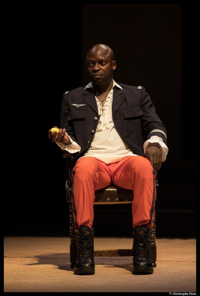 Congo Jazz Band de mohamed Kacimi. Mise en scène de Hassane Kouyaté. Les francophonies. les Zébrures d'automne.  Criss Niangouna © Christophe Péan