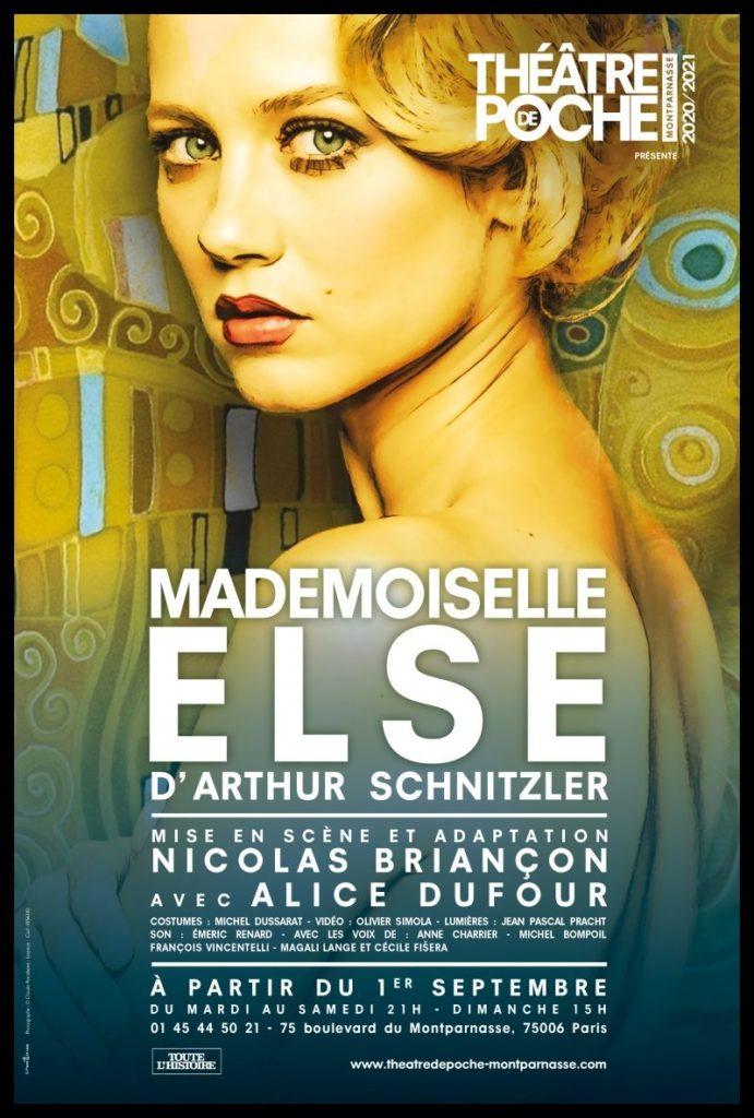 Mademoiselle Else d'Arthur Schnitzler. Mise en scène de Nicolas Briançon. Avec Alice Dufour. Poche-Montparnasse. ©Pascal Gely