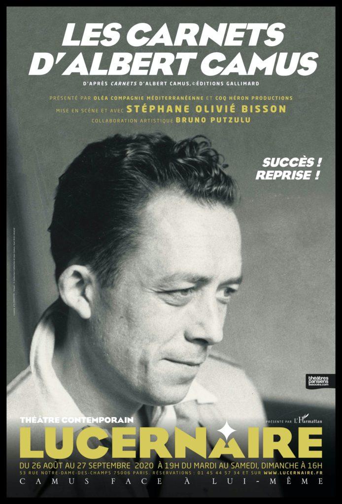 Les carnets d'Albert Camus. Stéphane Olivié Bisson. Lucernaire.© Elie Bekhazi