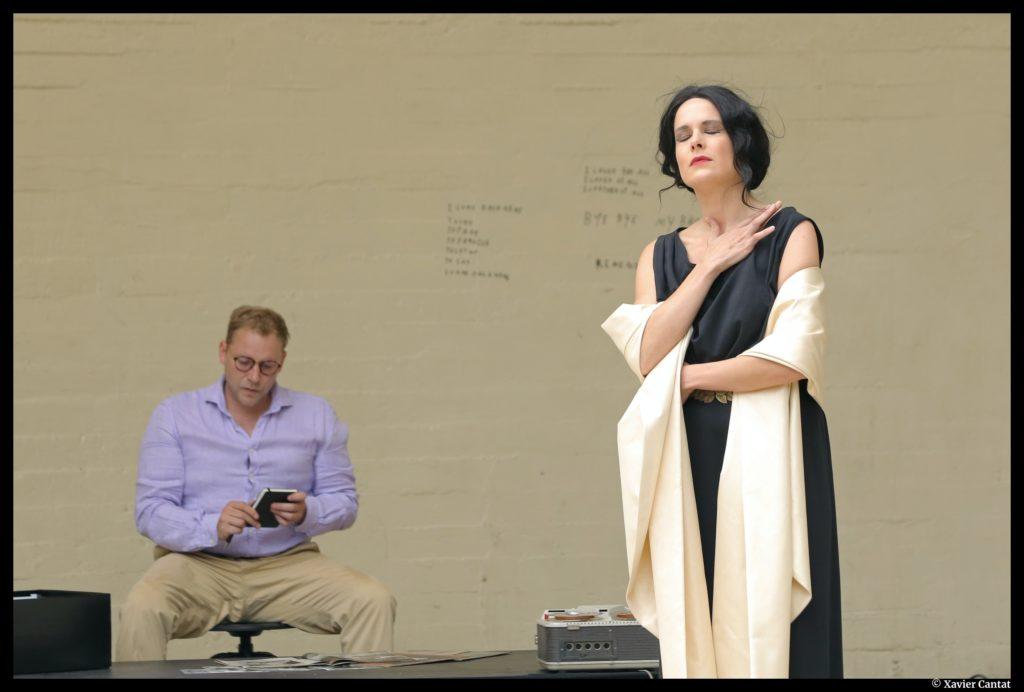 Callas, il était une voix de Jean-François Viot. Mise en scène de Cyril Le Prix. ©Xavier Cantat. Off/On Paris.