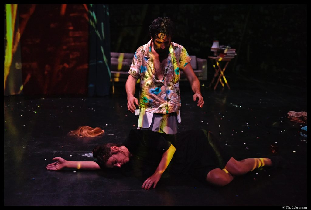 Philip K. ou la fille aux cheveux noirs d'après Philip K. Dick. Mise en scène de Julien Villa. théâtre de la tempête. théâtre de l'Aquarium. © Ph. Lebruman