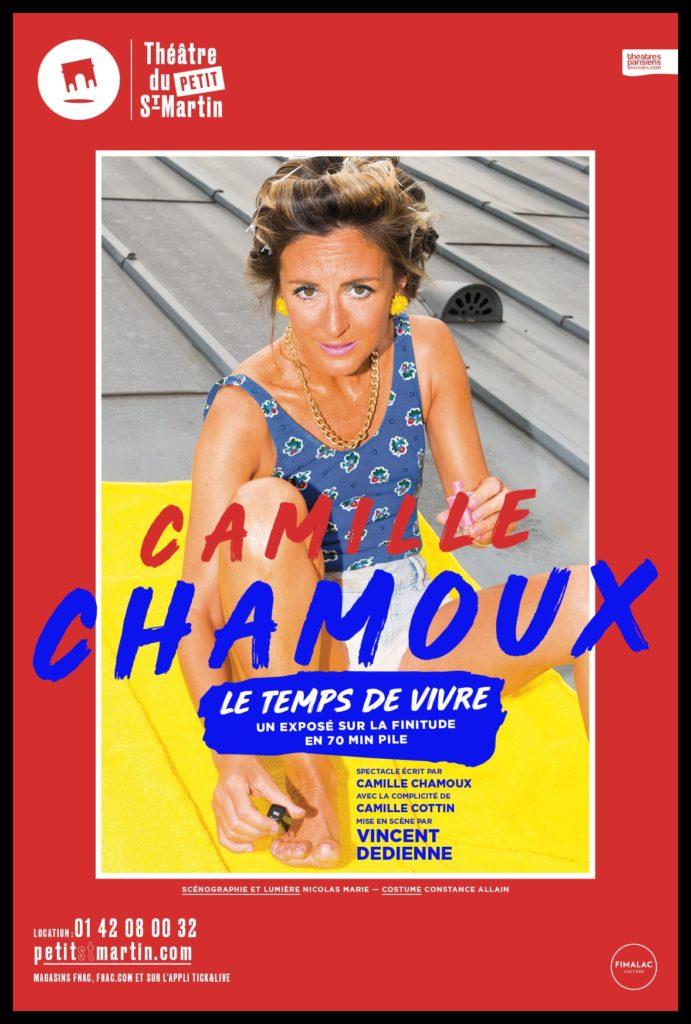 Le temps de Vivre de et avec Camille Chamoux. Mise en scène de Vincent Dedienne. Petit-Saint-Martin.