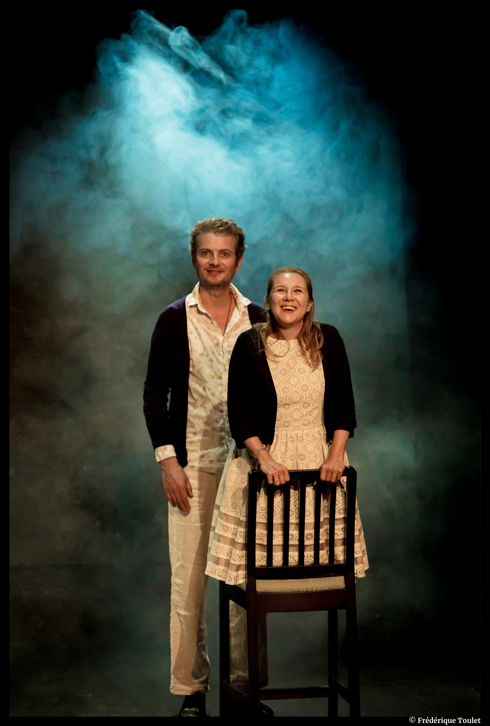Lorsque Françoise parait d'Eric Bu. Avec Sophie Forte, Stéphane Giletta. Théâtre Lepic. © Dominque Toulet