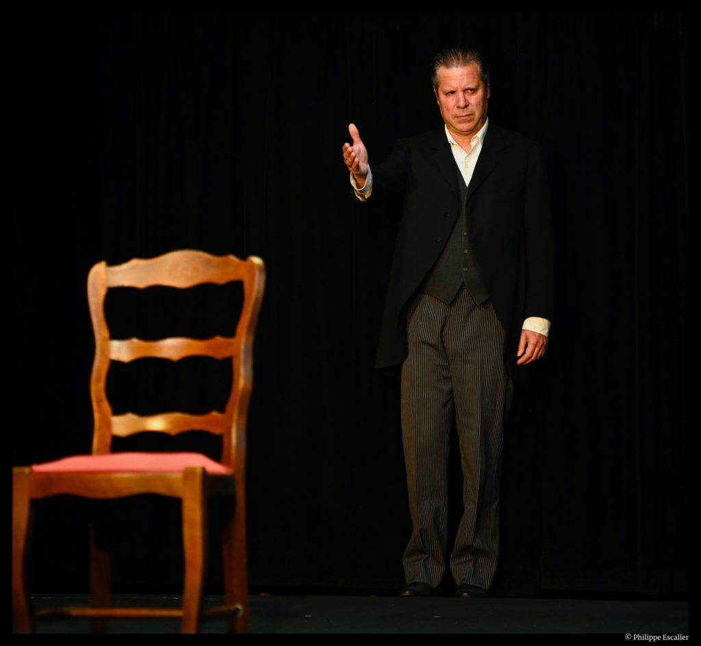 Flagrant déni d'après Guy de Maupassant. Adaptation et jeun Alain Payen. Mise en scène de Catherine Benhamou. Théâtre de la Huchette. © Philippe Escalier
