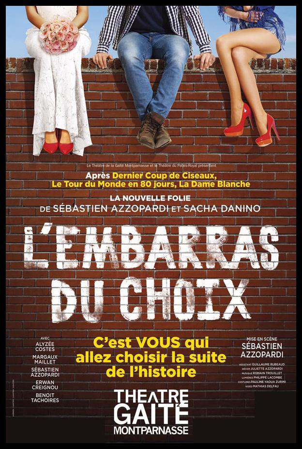 L'embarras du Choix de Sébastien Azzopardi et Sacha Danino. La Gaité Montparnasse. © Emilie Brouchon