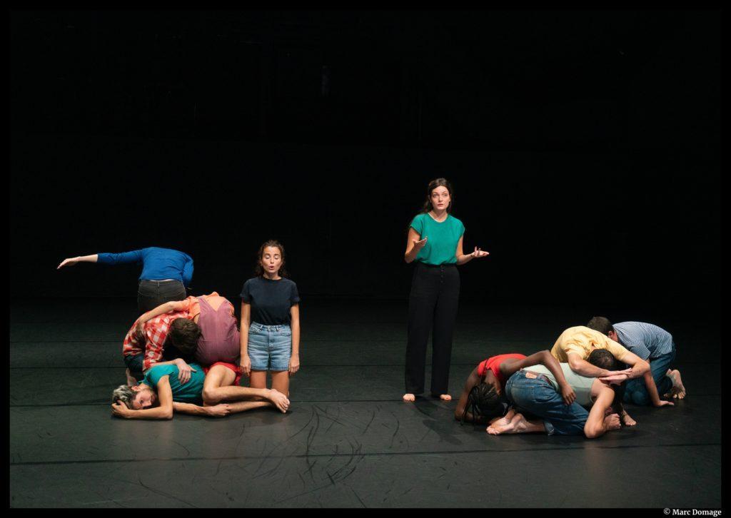 Le chœur de Fanny de Chaillé. talents Adami Théâtre 2020. présidente Anne Bouvier.  © Marc Domage