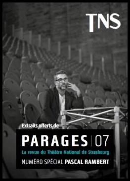 PARAGES 7. TNS. Frédéric Vossier. Pascal Rambert ©Jean Louis Fernandez