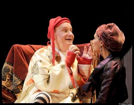 Michel bouquet dans Le Malade imaginaire, mise en scène par Georges Werler, costumes de Pascale Bordet© Guirec Coadec