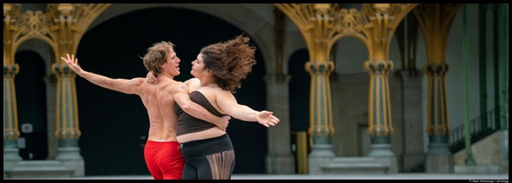 La ronde de Boris Charmatz - Grand Palais. Marlène Saldana et FrankWillens. © Marc Dommage / @rmngp