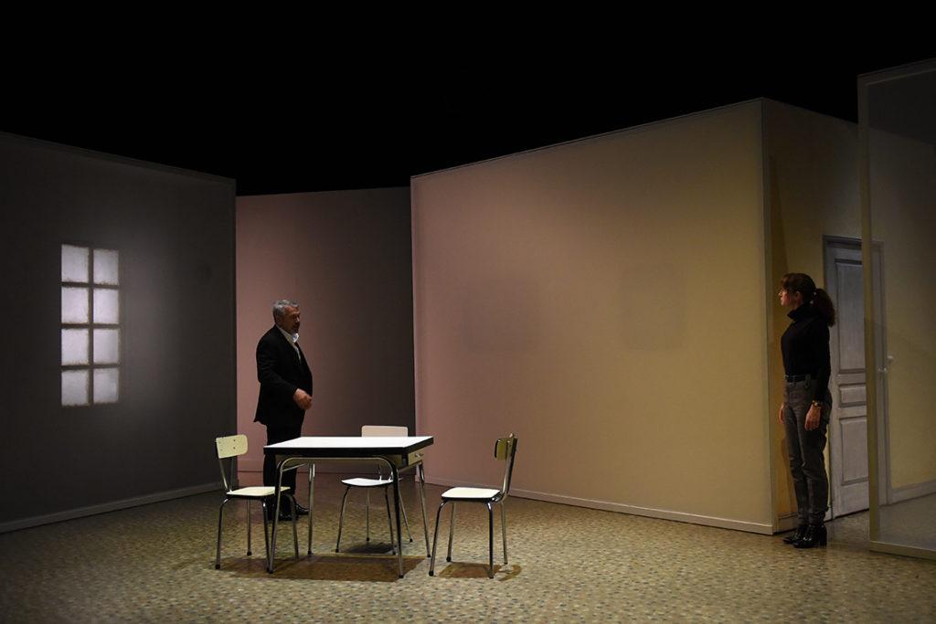 Tout mon amour de Laurent Mauvignier. Mise en scène d' Arnaud Meunier. Philippe Torreton et Anne Brochet. Comédie de Saint-Etienne. © Sonia Barcet