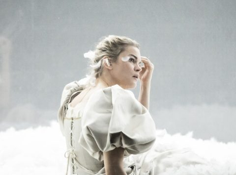 Marie-Sophie Ferdane dans Dissection d'une chute de neige de Sara Stridsberg. Mise en scène Christophe Rauck. Théâtre du Nord. © Simon Gosselin