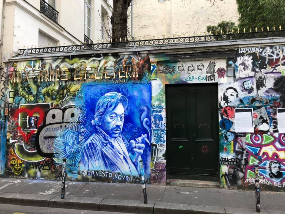 La maison de Gainsbourg, rue Verneuil. © Cédric Cilia