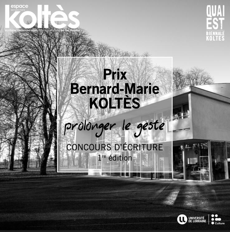 Lancement du prix Bernard-Marie Koltès
