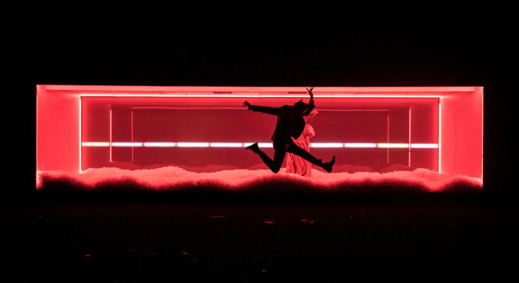 Emmanuel Noblet dans Dissection d'une chute de neige de Sara Stridsberg Mise en scène de Christophe Rauck répétitions ouvertes au Théâtre du Nord ©Simon Gosselin
