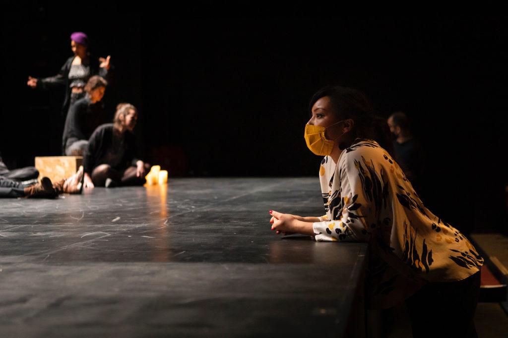 Répétitions de Penthésilé.e.s de Marie Dilasser, mise en scène de Laëtitia Guédon ©Pauline Le Goff
