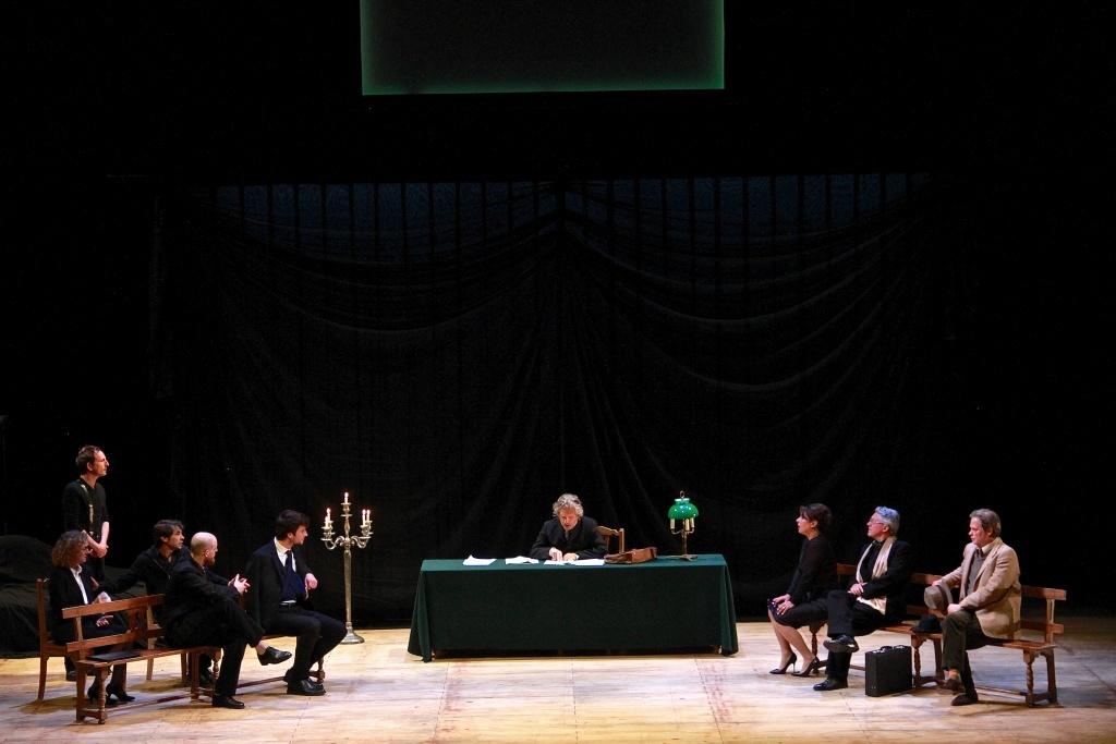 Feuilleton Goldoni. Mise en scène de Muriel Mayette-Holtz. toute la troupe. ©Virginie Lançon