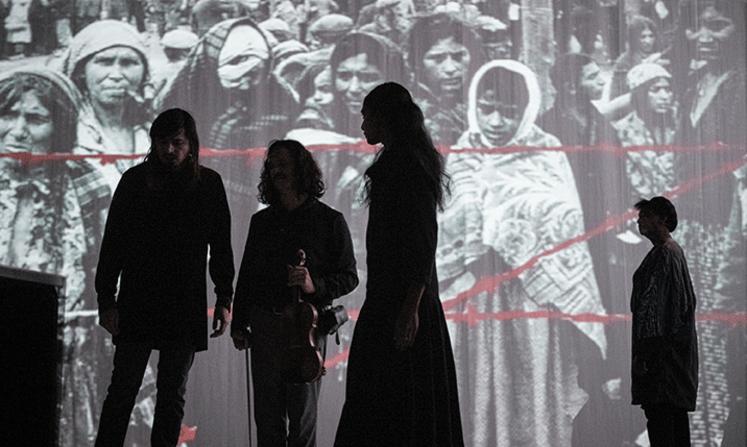 I Silenti d'après Claudio Monteverdi. Composition de Fabrizio Cassol. Mise en scène de Lisaboa Houbrechts © Kurt Van Der Elst