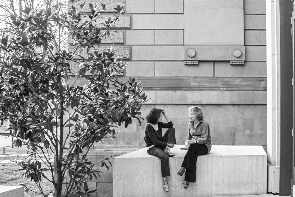 Claudie Galea et Cécile Brune. TNS. Répétition au Bord.  Stanisal Nordey © Jean-Louis Fernandez