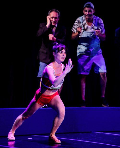 Jane cours pas je vole ! d' Élodie Menant. mise en scène de Johanna Boyé. Vanessa Cailhol © Aurore Vinot